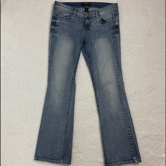 White House Black Market Denim - [WHBM] Noir Boot Leg Metal Stud Bead Sz 6S
